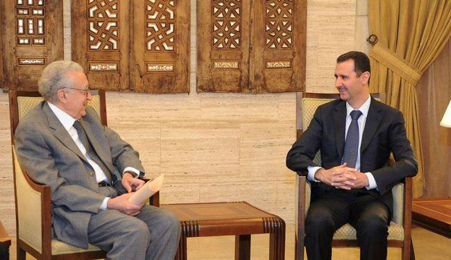 الاسد يستقبل الابراهيمي لاجراء محادثات حول جنيف 2