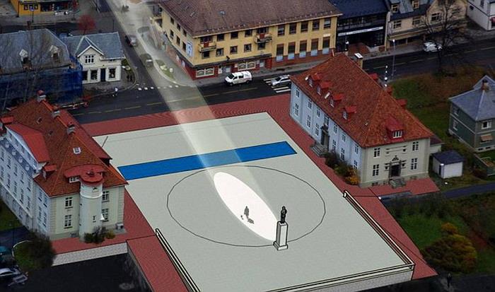 Norwegian village see the sun1