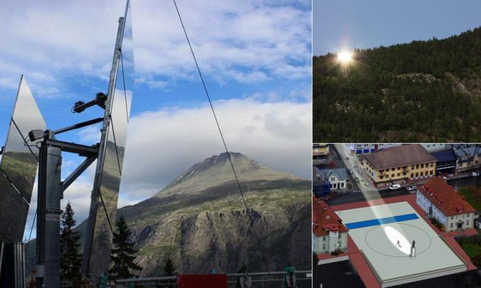 Norwegian village see the sun2