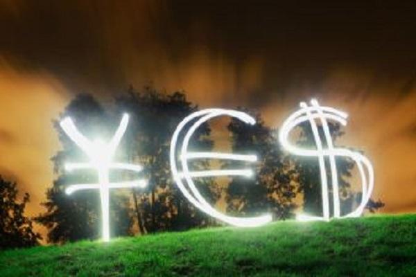 YES- yin -euro - dolar