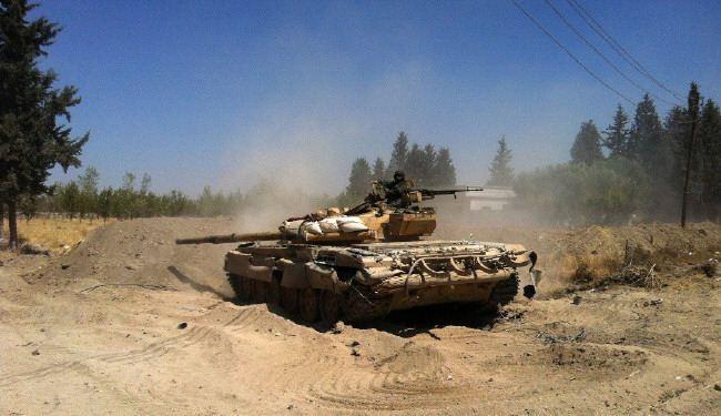 الجيش السوري يستهدف مواقع المسلحين بريف دمشق