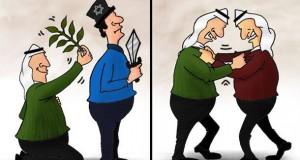 كاريكاتور الصراع العربي – الاسرائيلي