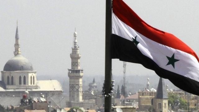 flag - syria - dimascus