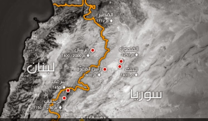 map - syria - lebanone
