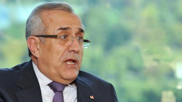 Lebanon President Michel Sleiman speaks