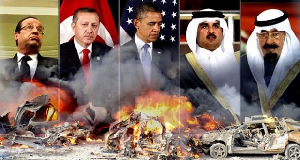 أمريكا وفرنسا تقودان تنسيقا بين تركيا والسعودية وقطر لتكثيف التفجيرات الارهابية في سوريا