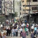 أبناء حمص القديمة يتفقدون منازلهم: سنعيد إعمار ما خربه الإرهابيون