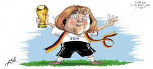 كاريكاتور فوز ألمانيا بكأس العالم 2014