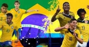 البرازيل تتأهل للدور قبل النهائي لمونديال 2014 بالفوز على كولومبيا