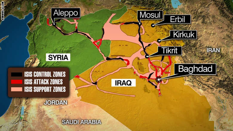 ISIS Control Map - July 9, 2014