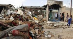 """""""داعش"""" يفجر احدى أقدم حسينيات ناحية جلولاء شمال شرق بعقوبة"""