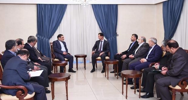 الرئيس الأسد لـ شمخاني: محاربة الإرهاب لا يمكن أن تكون على يد دول ساهمت في إنشاء التنظيمات الإرهابية ودعمتها