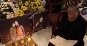 سليماني عند قبر الشهيد جهاد مغنية