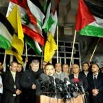 …أعلام حزب الله ترفع في غزة: