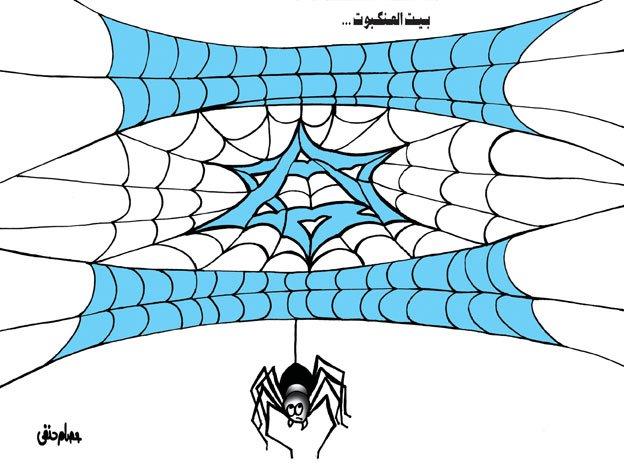 caricature-issamhanafy-israel-spider