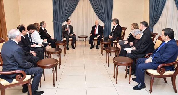 الرئيس الأسد لوفد الأحزاب والفعاليات التركية: أردوغان يدعم القوى التكفيرية إرضاء لأسياده