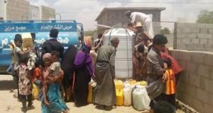 جمعية رعاية الاسرة اليمنية توزع 28 خزان مياه للنازحين في مديريتي حيران وحرض بحجة