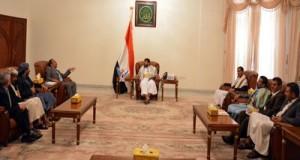 رئيس اللجنة الثورية يلتقي محافظي صنعاء والبيضاء ومأرب والجوف