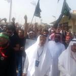 بالصور: تشييع شهداء تفجير القديح الارهابي بحضور جماهيري
