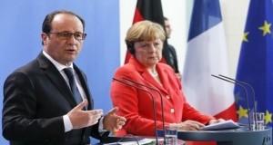 ميركل وهولاند يدعوان إلى عقد قمة أوروبية بشأن اليونان