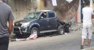 إصابات بتفجير خمس سيارات في غزة