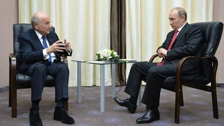 """بوتين يصف الحملة الأمريكية ضد الفيفا بتهمة الفساد بـ """"غير المقبولة"""""""