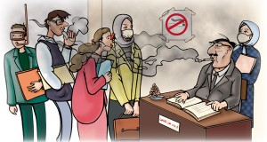 التدخين بالمنزل يزيد إصابة الأطفال بأمراض الجهاز التنفسي.