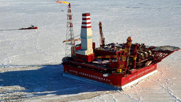 منصة نفطية روسية في منطقة القطب الشمالي