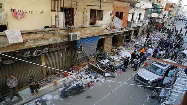 الانفجاران الارهابيان استهدفا منطقة سكنية