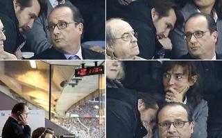 صور الذهول على الرئيس الفرنسي وهو يسمع خبر الهجمات