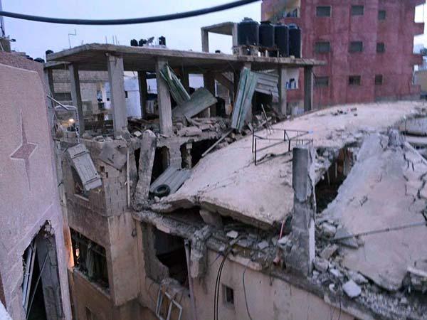 منزل الأسير محمد أبو شاهين بعد تفجيره