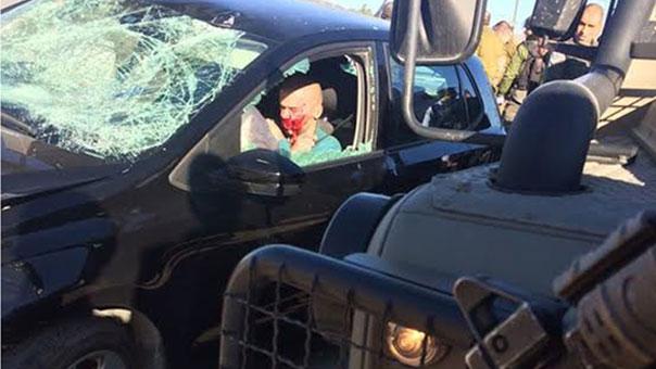 حالة رعب صهيونية بعد إصابة 4 عسكريين صهاينة بينهم ضابط كبير في عملية دهس جنوب نابلس