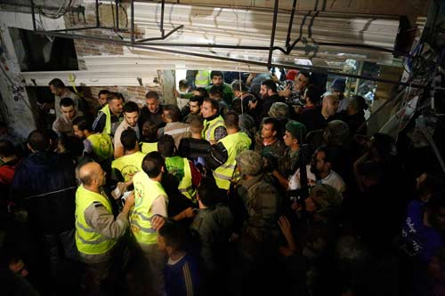 صور من موقع التفجيرين في برج البراجنة