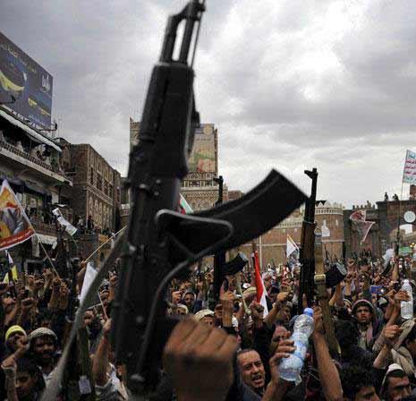 الجيش اليمني واللجان الشعبية سيطروا على عدد من المواقع في الشريجة ونجران
