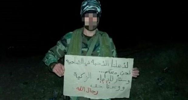"""بالصورة:رسالة مجاهدي """"حزب الله"""" لأهالي الضاحية بعد التفجيرين الإرهابيين"""