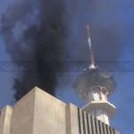 بالصور: اندلاع حريق بمبنى التلفزيون السعودي