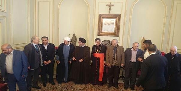 وفد من حزب الله في بكركي