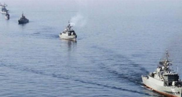انطلاق المناورات البحرية المشتركة بين ايران وعمان في مضيق هرمز