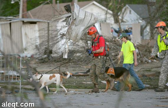 عواصف عاتية تقتل ستة أشخاص فى جنوب الولايات المتحدة.