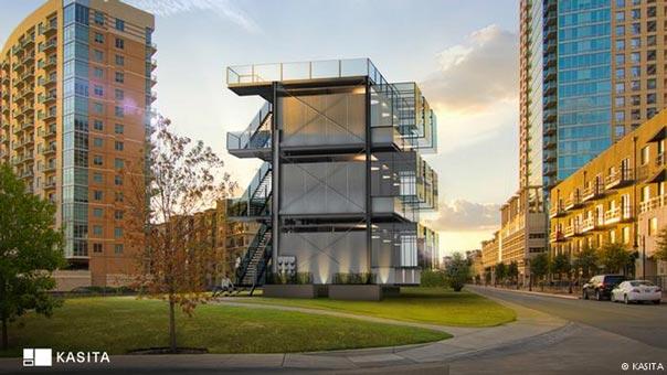 """منزل المستقبل.. يمكن """"سحبه"""" من مبنى سكني و""""دفعه"""" في مبنى آخر"""