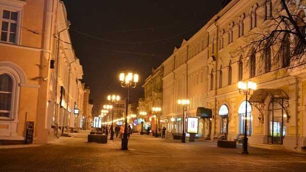 شارع بوكروفكا وسط موسكو
