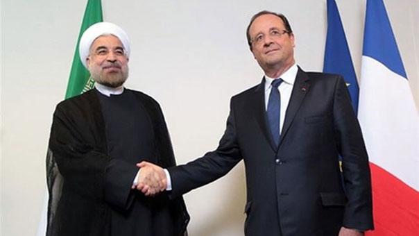 الرئيسين الفرنسي والايراني