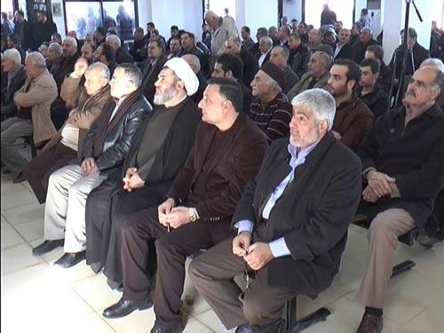 جانب من الحضور في الاحتفال التأبيني في بلدة برج قلاويه للحاج علي نور الدين