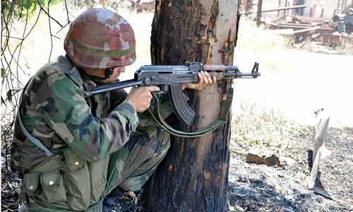 جندي من الجيش العربي السوري في ريف حلب