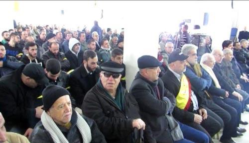 جانب من الحضور في الاحتفال بذكرى أسبوع الشهيد أحمد محمد الشعار في صور