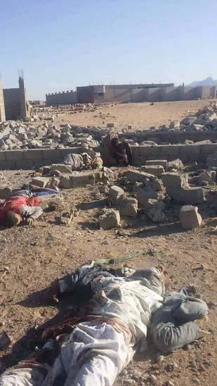 جثث المدنيين وعمال الاغاثة منتشرة في المكان