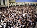 بالصور..  لقاء قائد الثورة الإسلامية مع حشد من اهالي نجف آباد