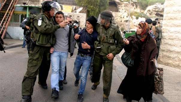 اعتقال فلسطينين