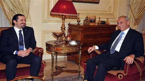 صورة أرشيفية تجمع الرئيس بري والنائب الحريري