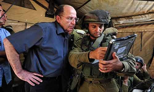 وزير الحرب الاسرائيلي موشيه يعلون